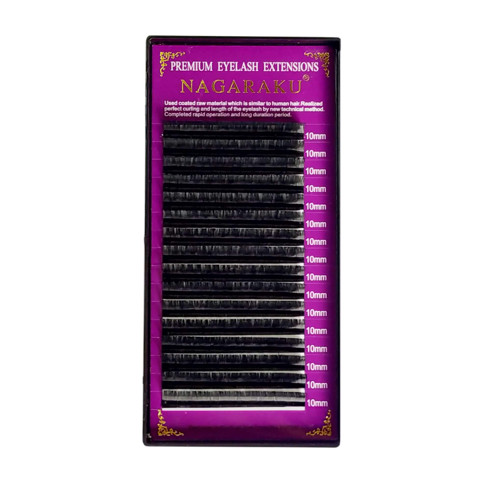 Cílios Nagaraku Premium Volume Russo 10mm 0.07D