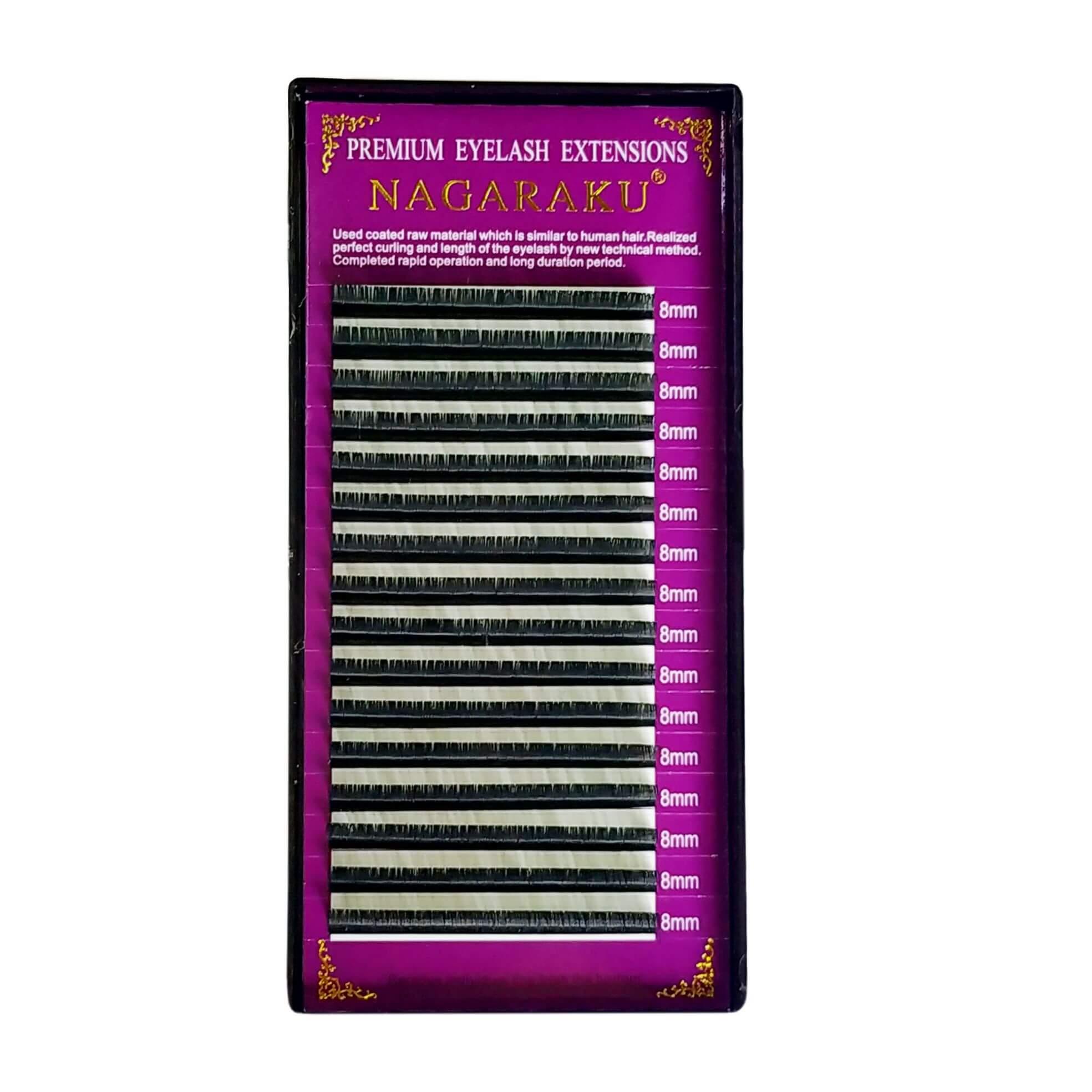 Cílios Nagaraku Premium Volume Russo 8mm 0.07D