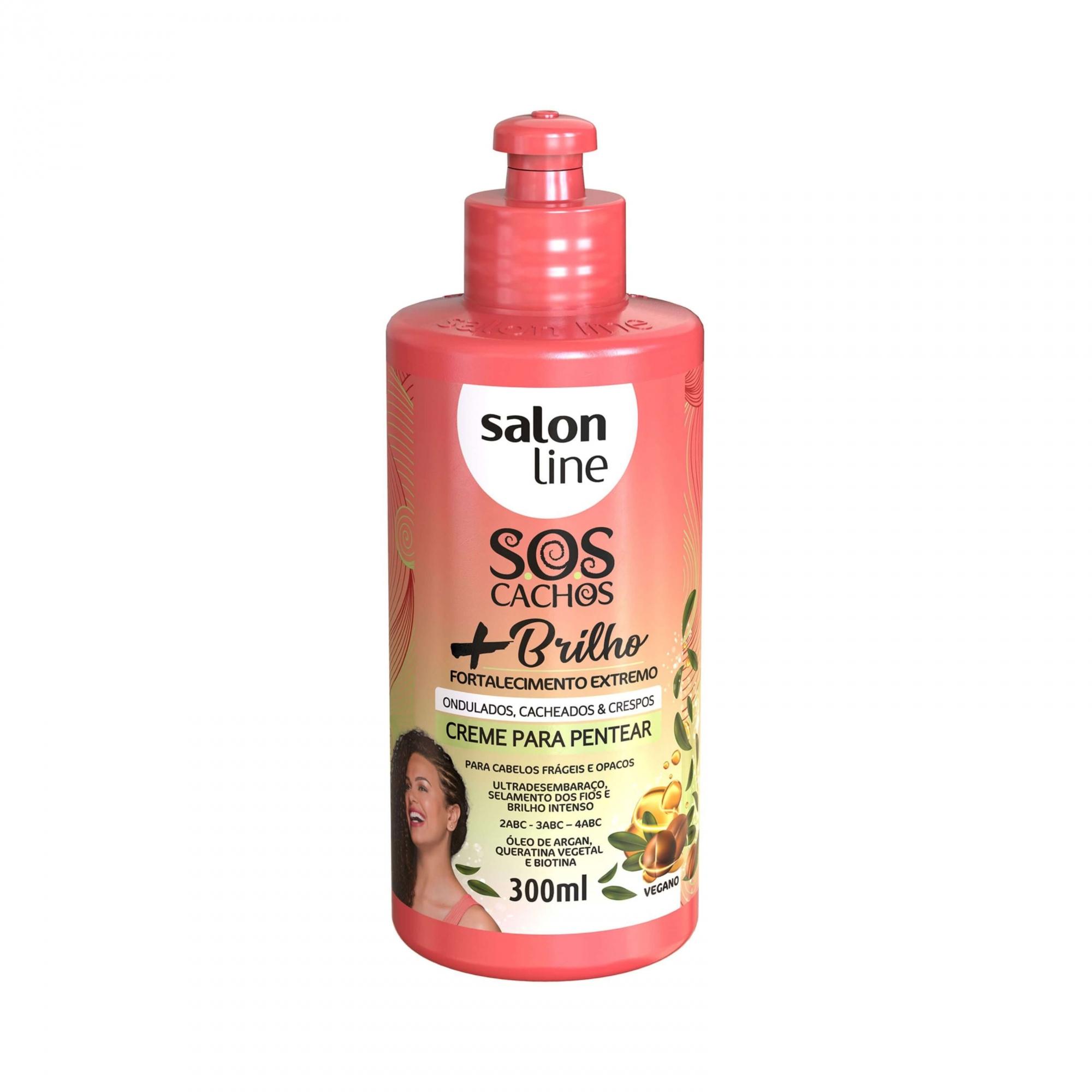 Creme Para Pentear Sos Cachos + Brilho  - Salon Line 300ml