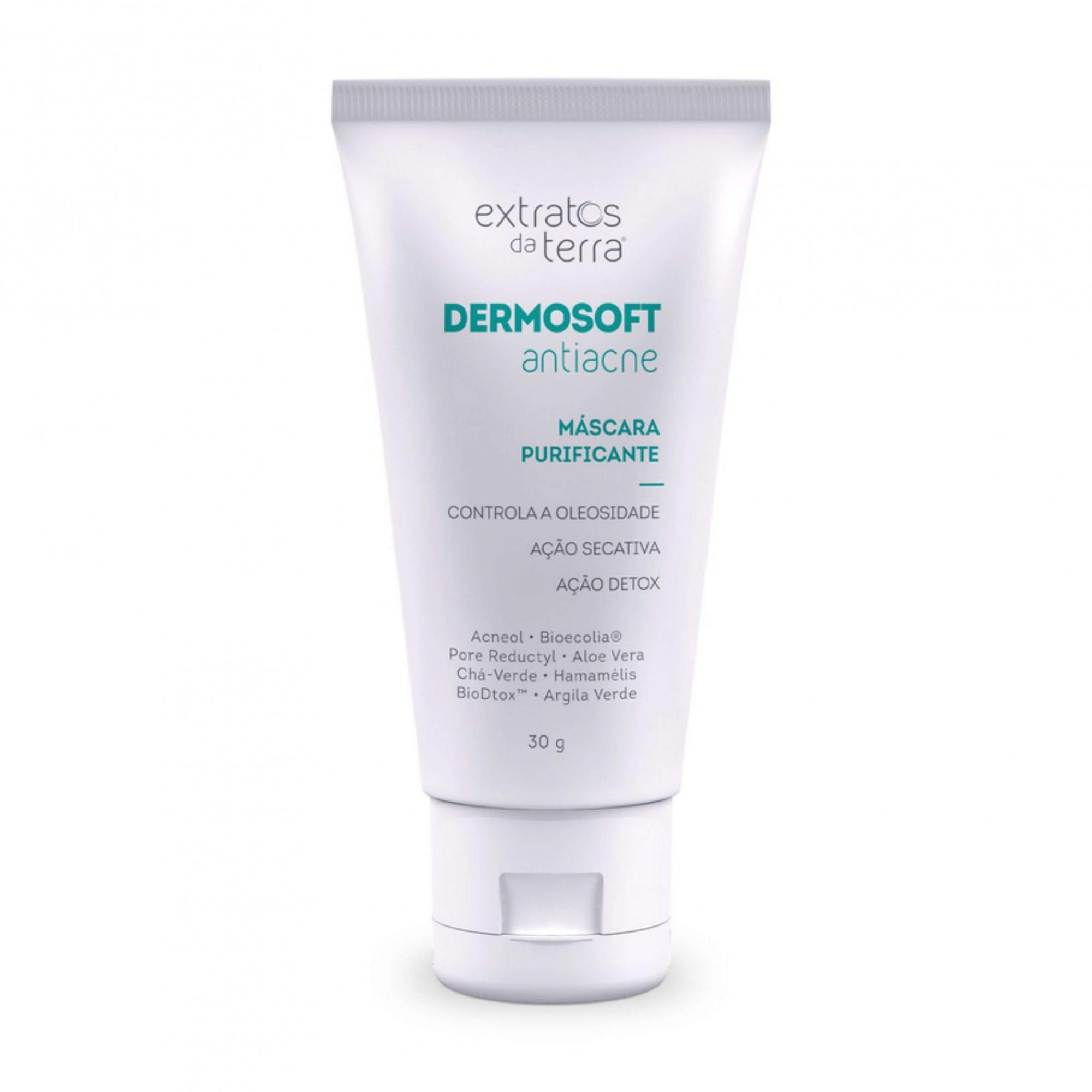 DermoSoft Antiacne - Máscara Purificante Extratos Da Terra 30g