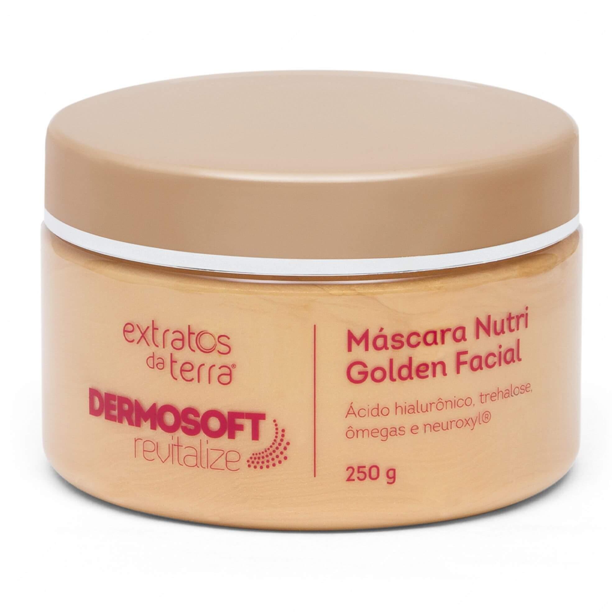 DermoSoft Revitalize - Máscara Nutri Golden Facial Extratos Da Terra 250g