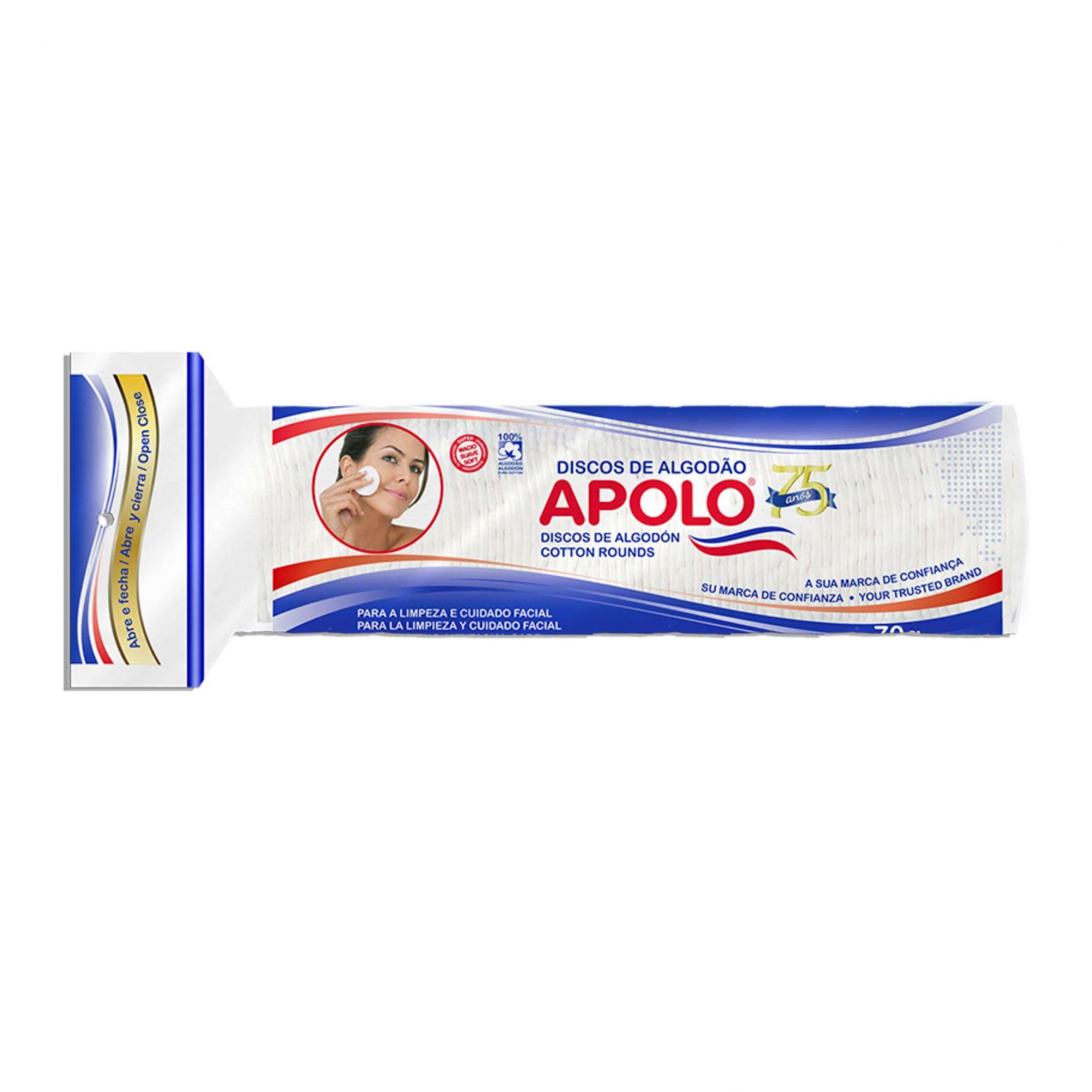 Discos de algodão Apolo 70g