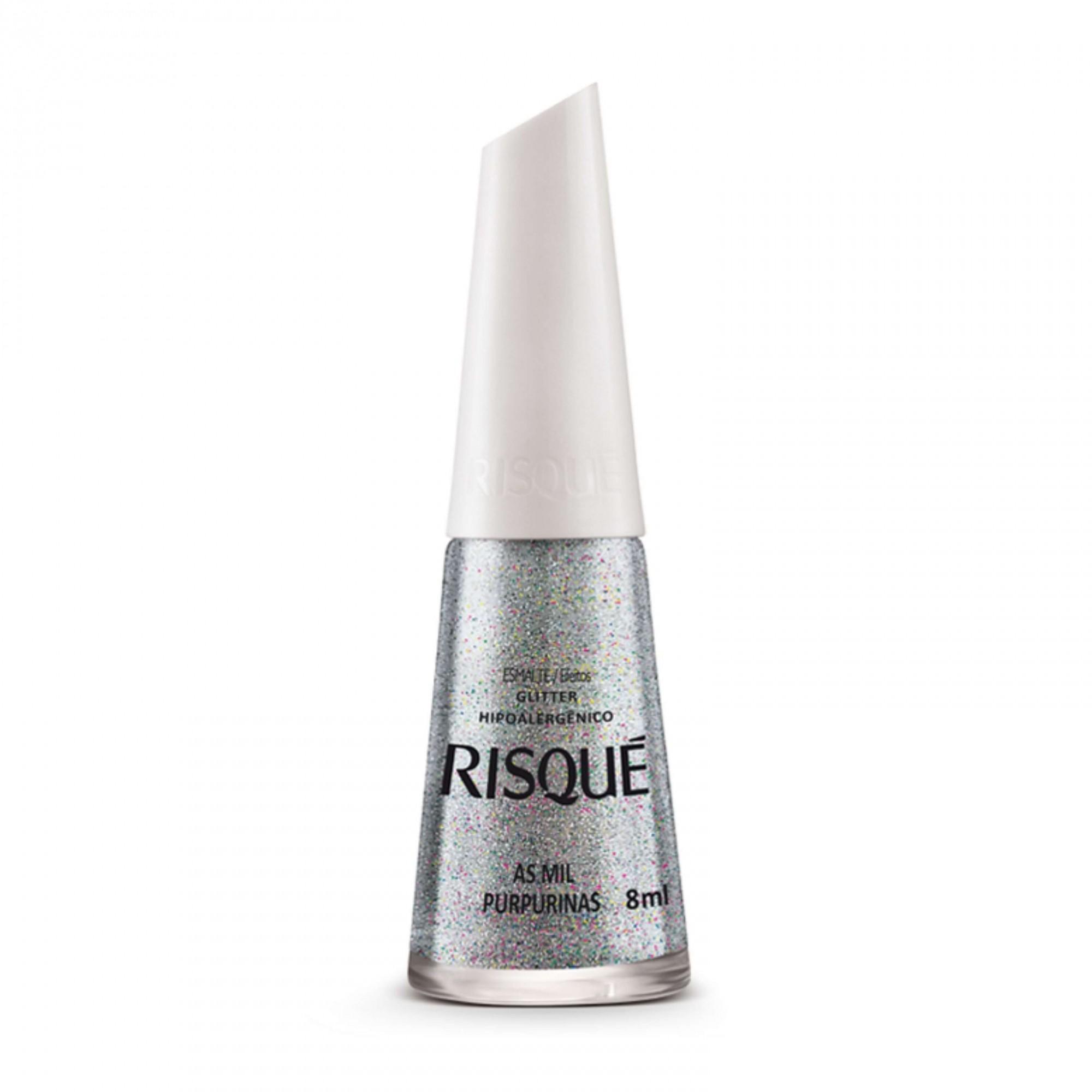 Esmalte Glitter Risque As Mil Purpurinas 8ml