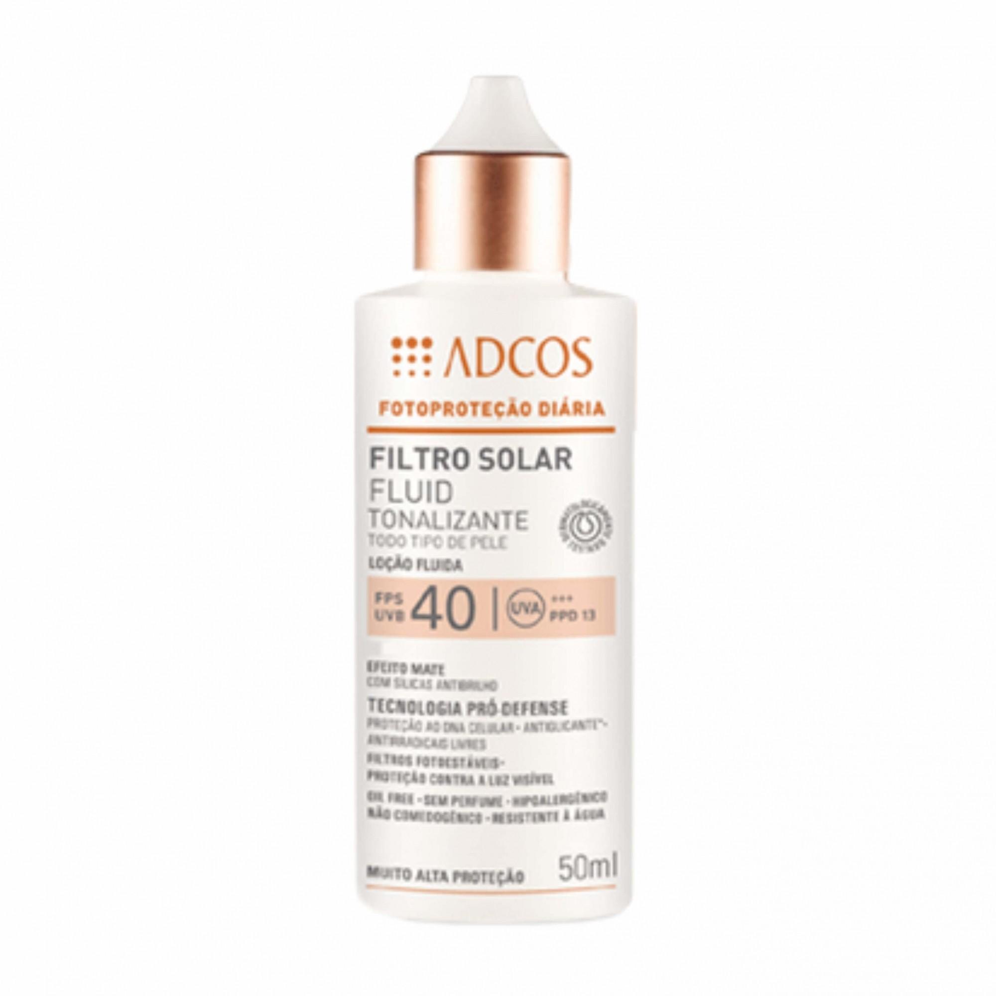Filtro Solar Tonalizante ADCOS FPS 40 Fluid - Peach