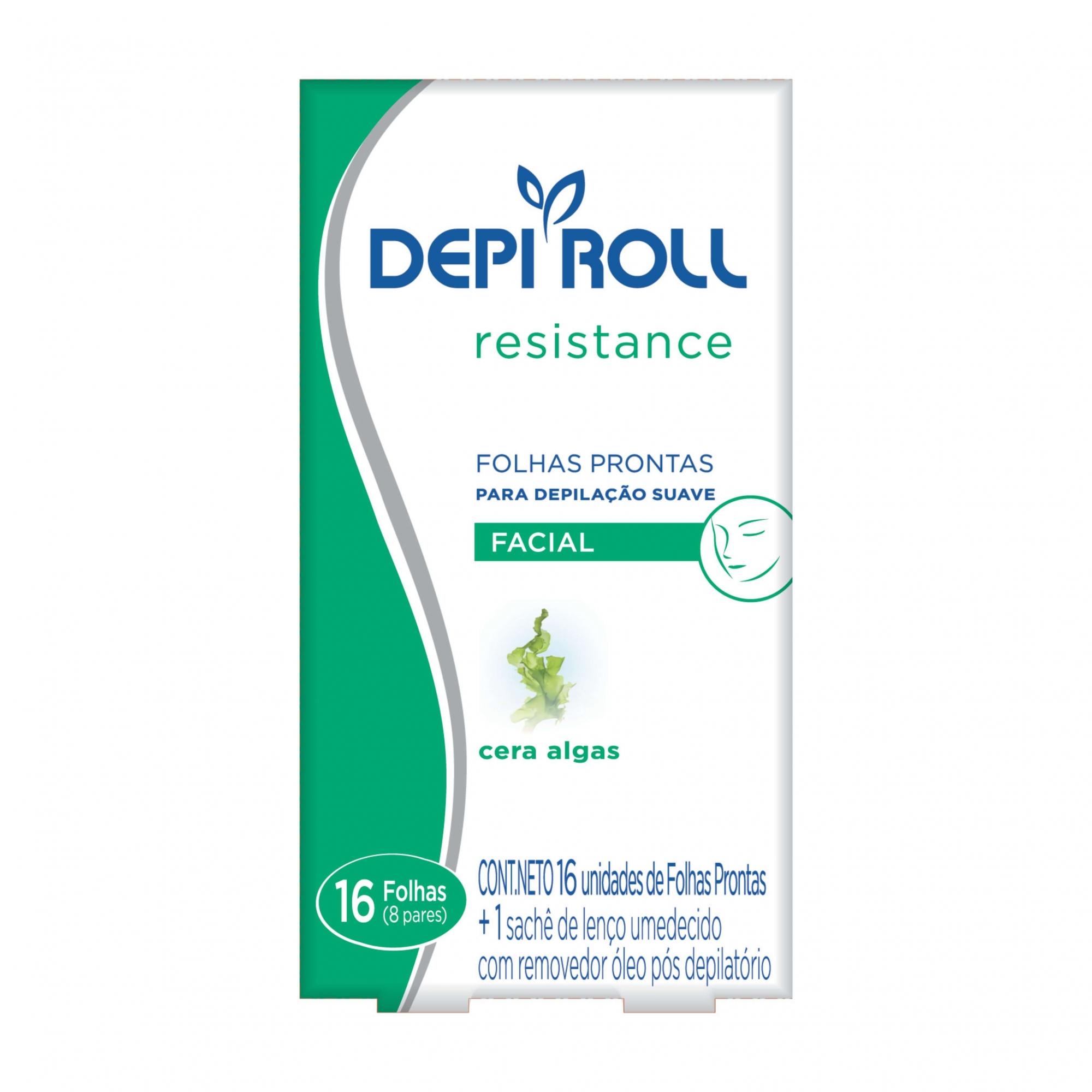 Folhas Prontas Para Depilação Facial Algas Depi Roll 16un