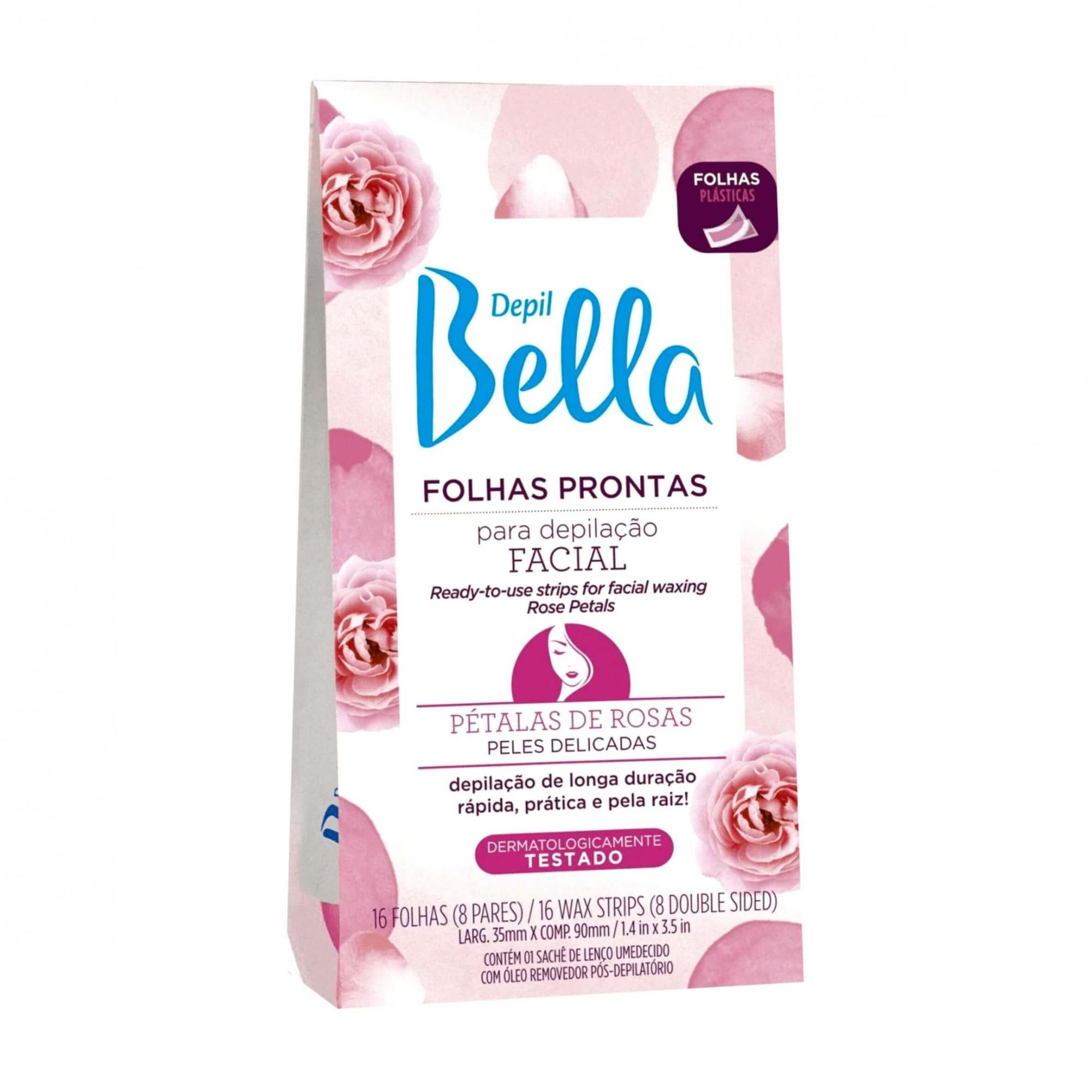Folhas Prontas para Depilação Facial - Pétalas de Rosas Depil Bella - 16 Folhas