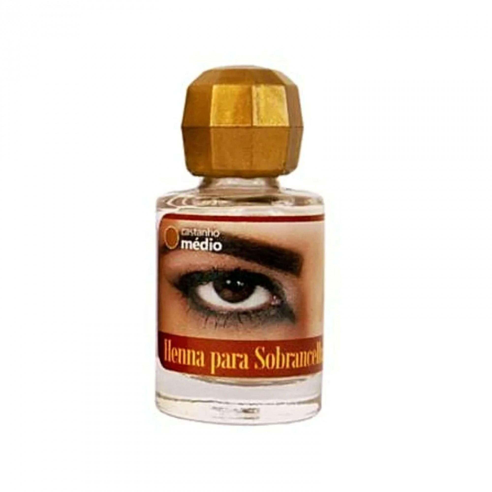 Henna para Sobrancelha Castanho Médio 8g Della Delle