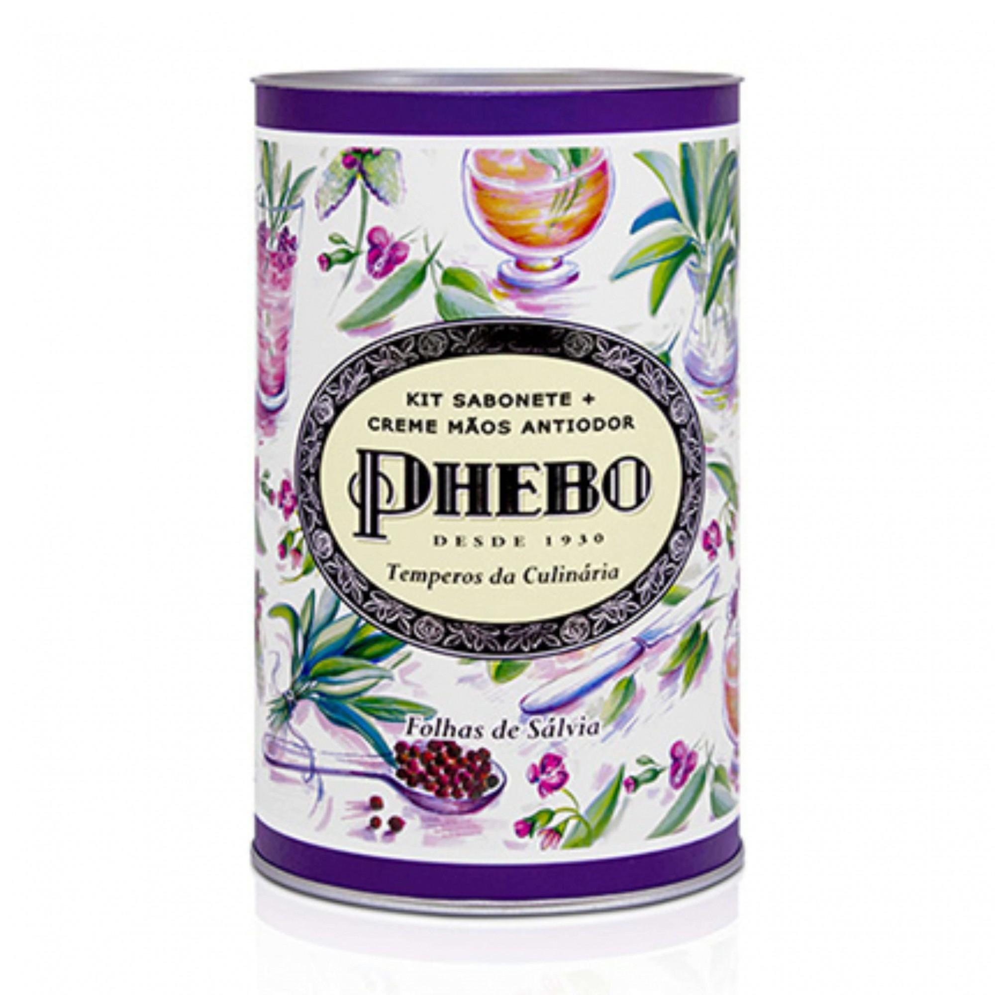 Kit Mãos Phebo Tempero Folhas de Salvia