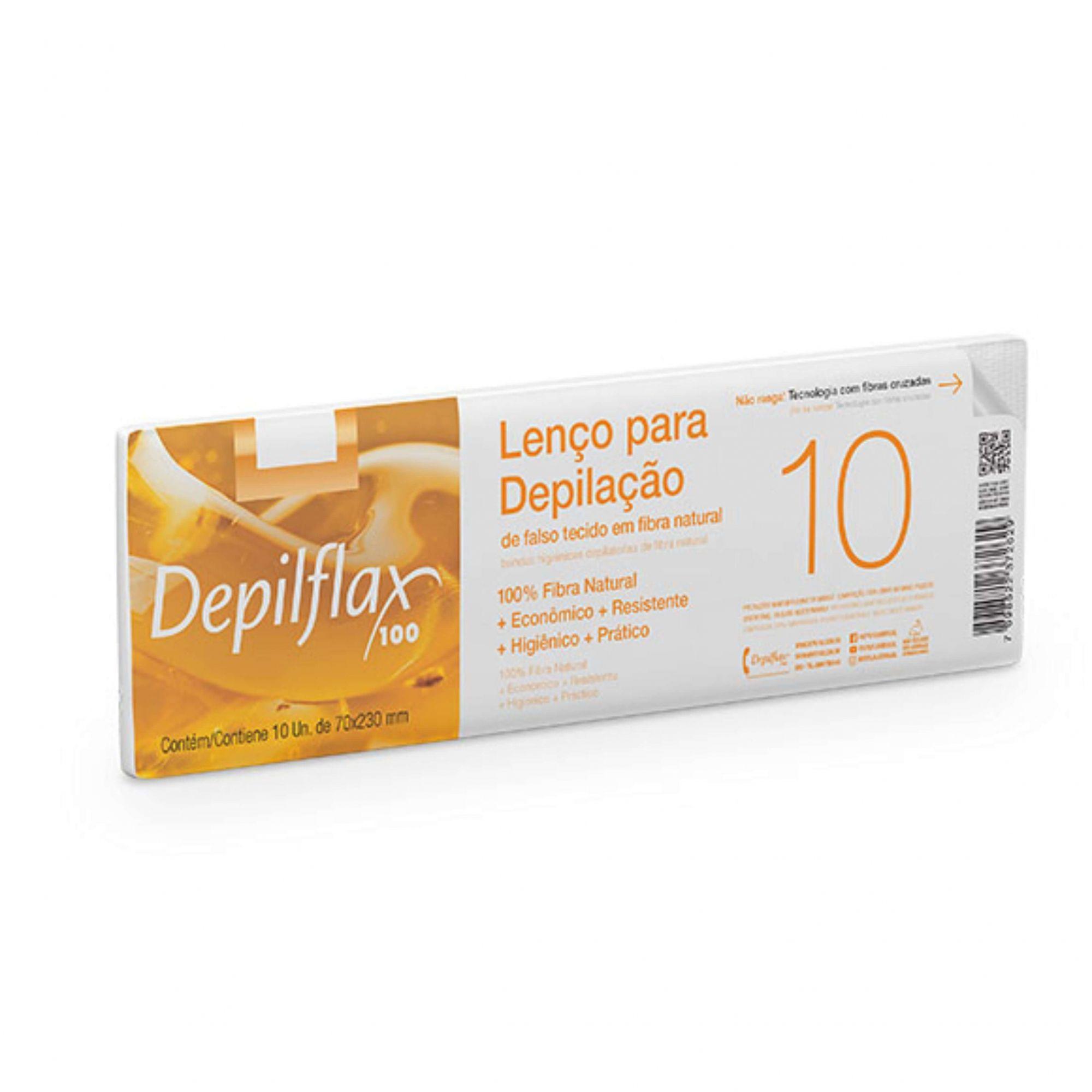 Lenço para Depilação Depilflax c/ 10 unid