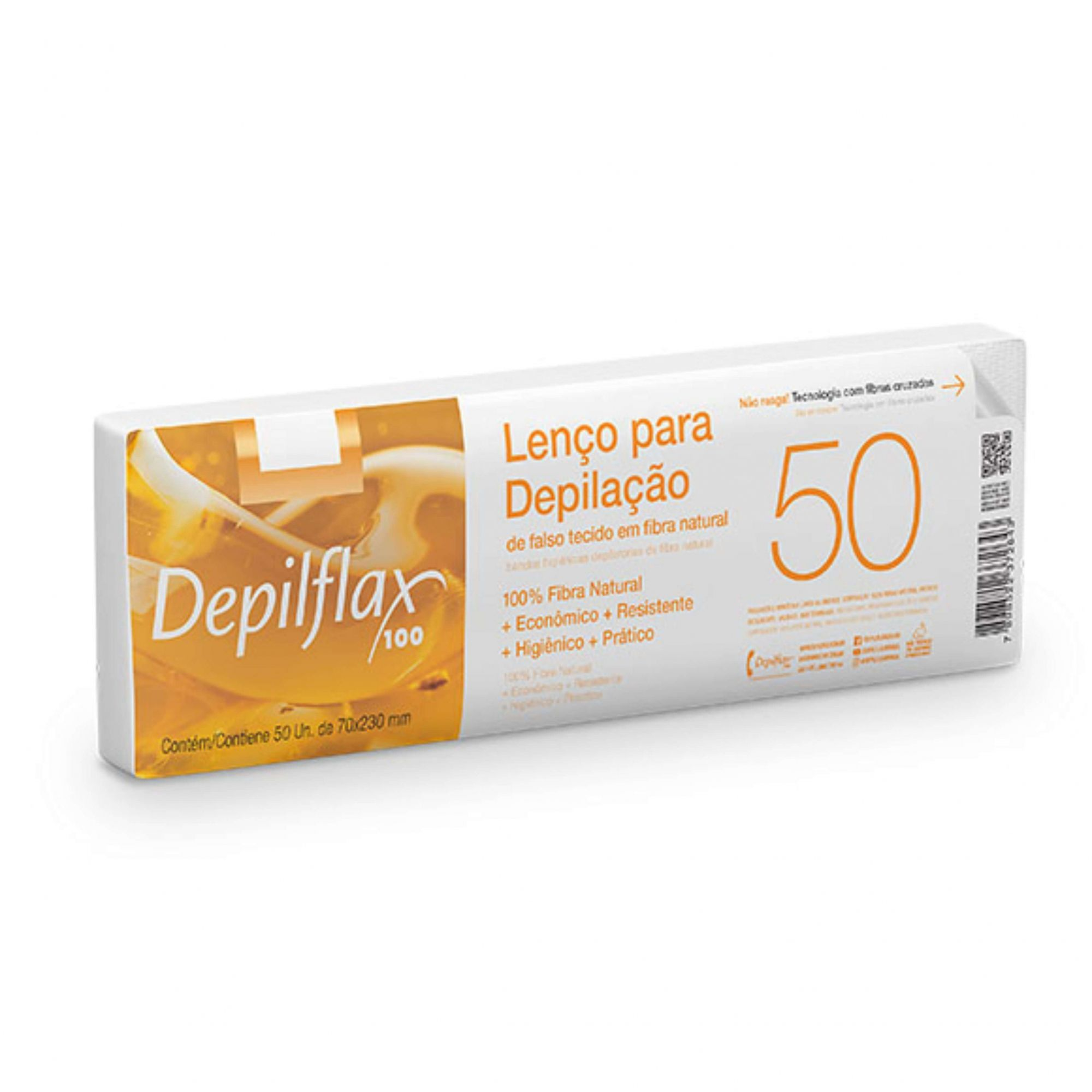 Lenço para Depilação Depilflax c/ 50 unid
