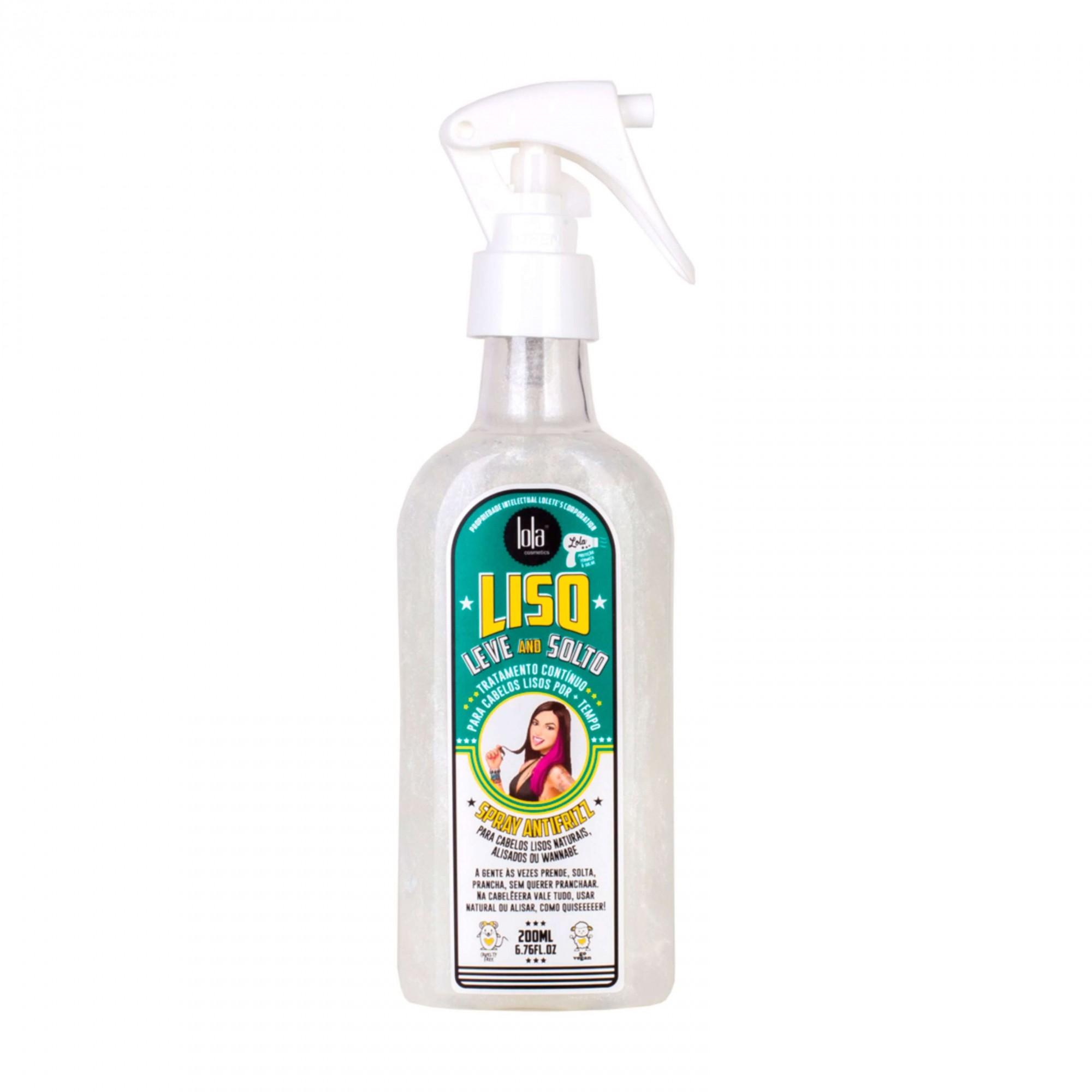 Lola Cosméticos Liso, Leve and Solto - Spray Alisador Anti-Frizz 200ml