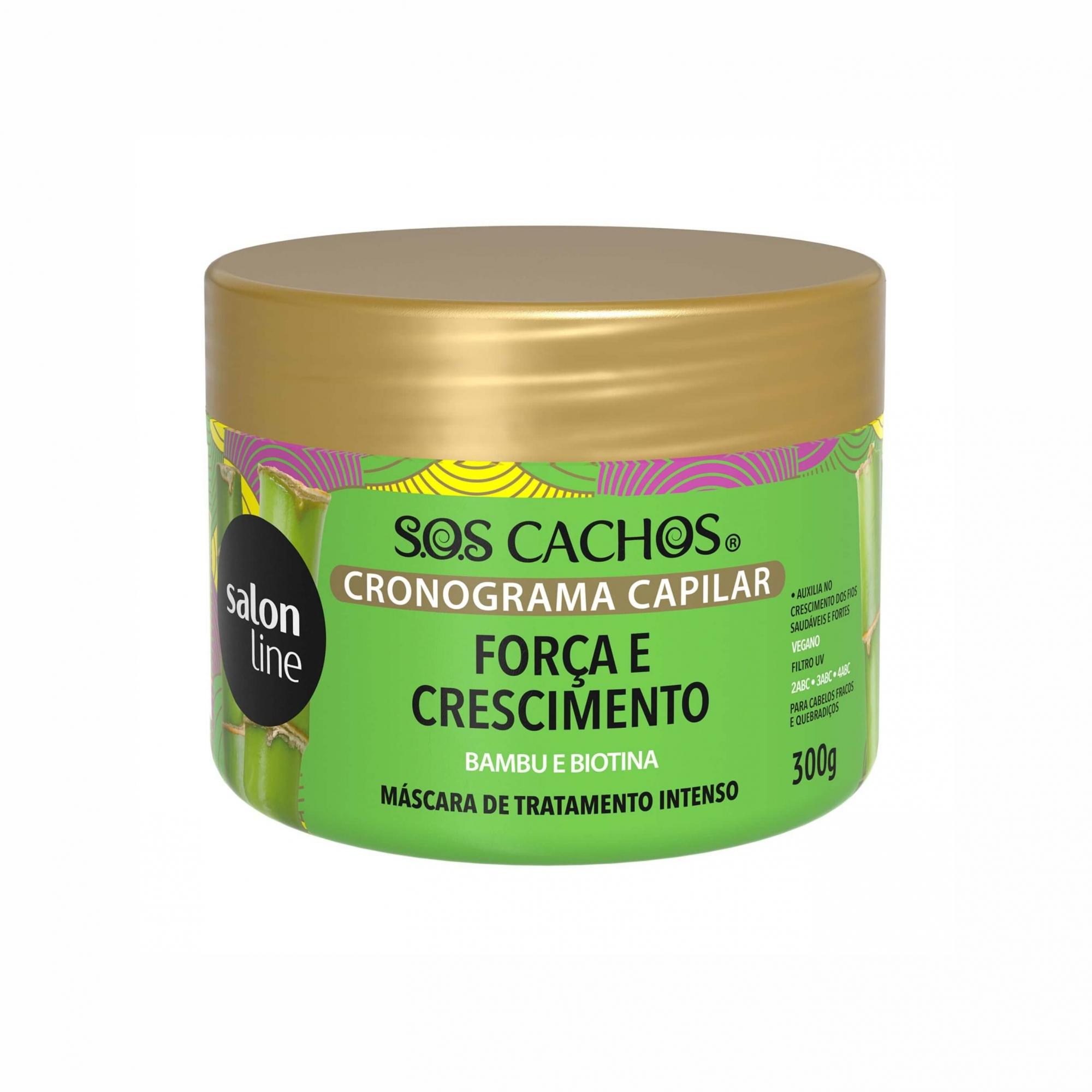 Máscara de Tratamento Salon Line S.o.s Cachos Cronograma Capilar - Força e Crescimento 300g