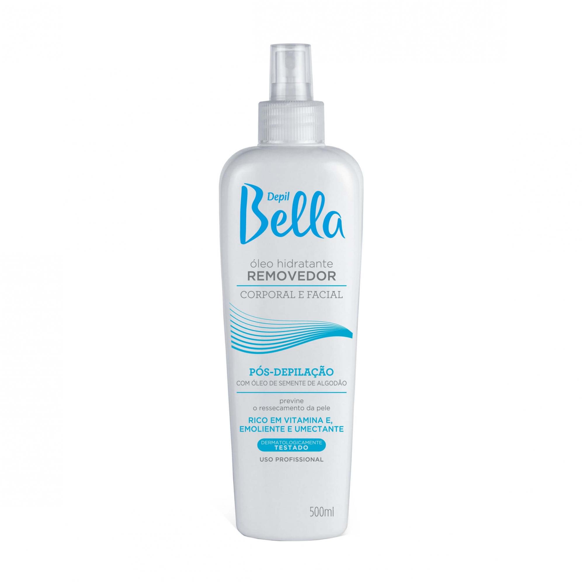 Óleo Hidratante Removedor - Semente de Algodão - Depil Bella 500ml