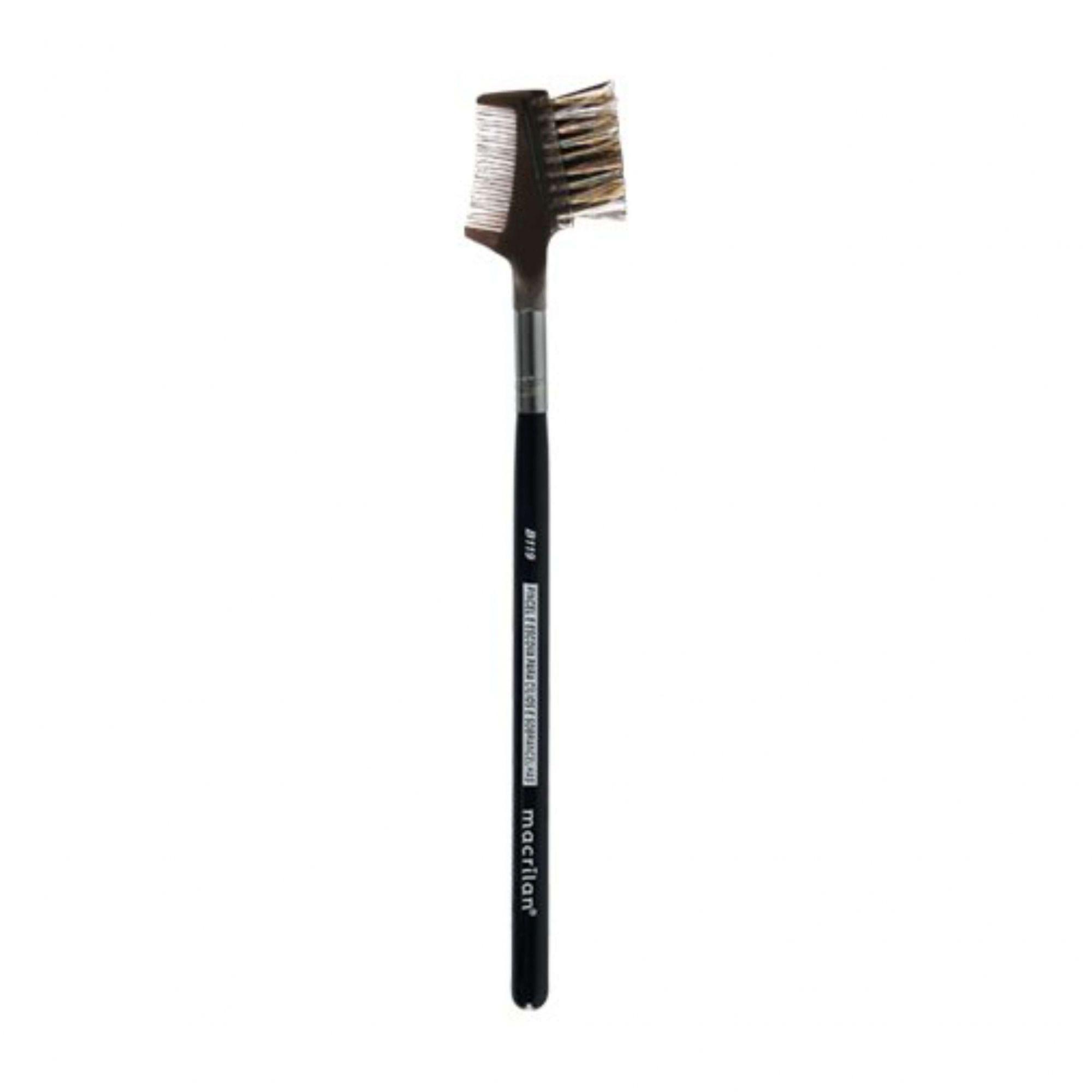 Pincel profissional pente e escova para cílios e sobrancelhas Macrilan B119 Linha B