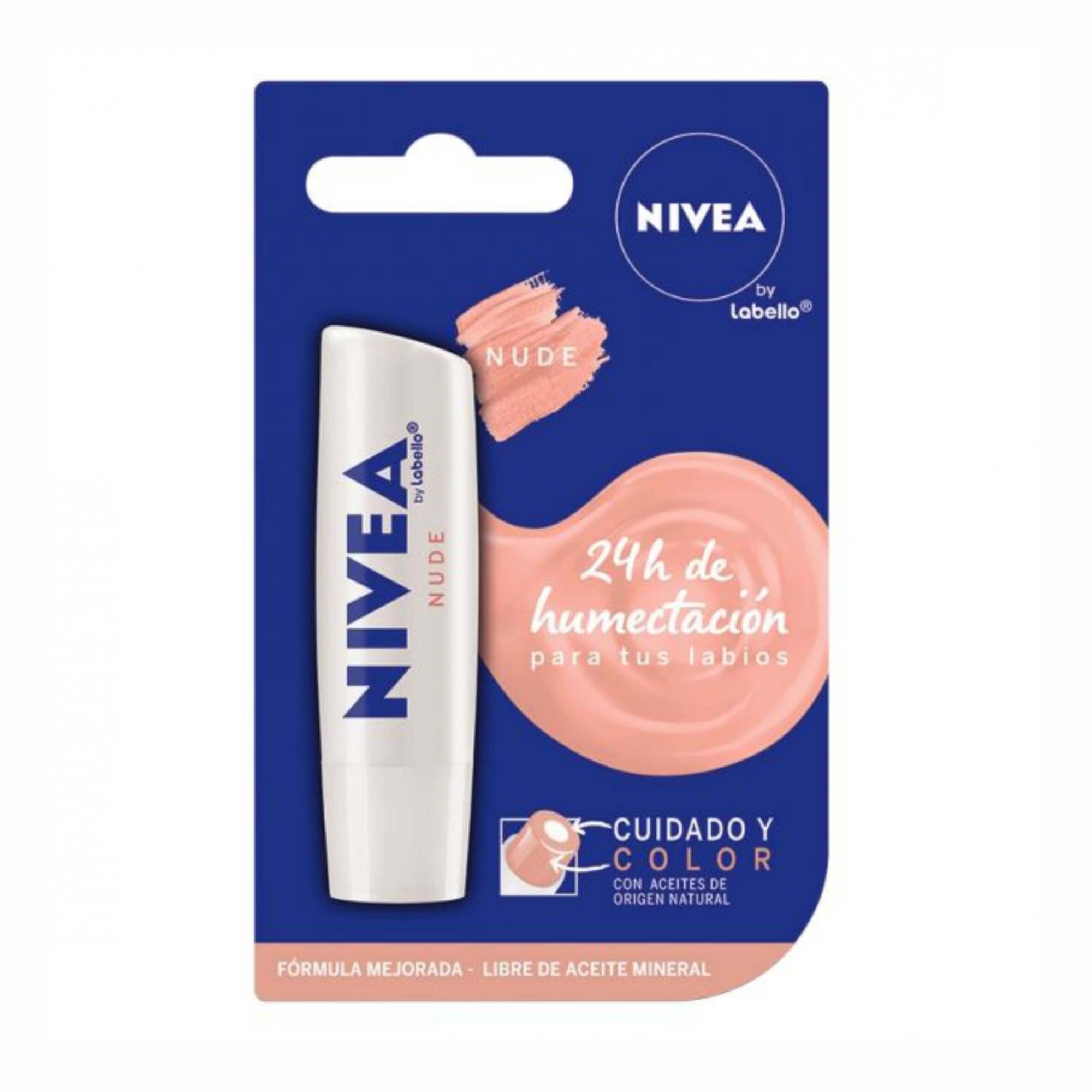 Protetor Labial Nivea Cuidado & Cor Nude 4,8g