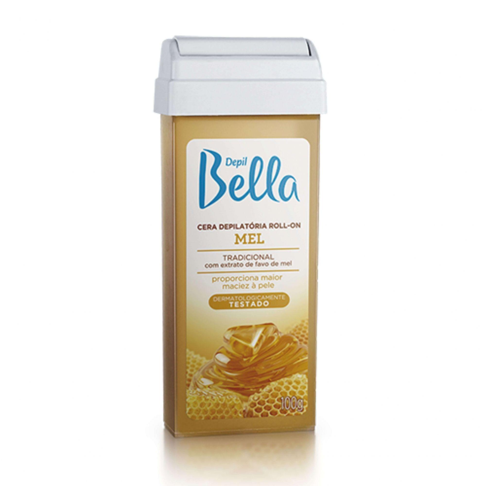 Refil Cera Depilatória Roll-on Mel Depil Bella 100g