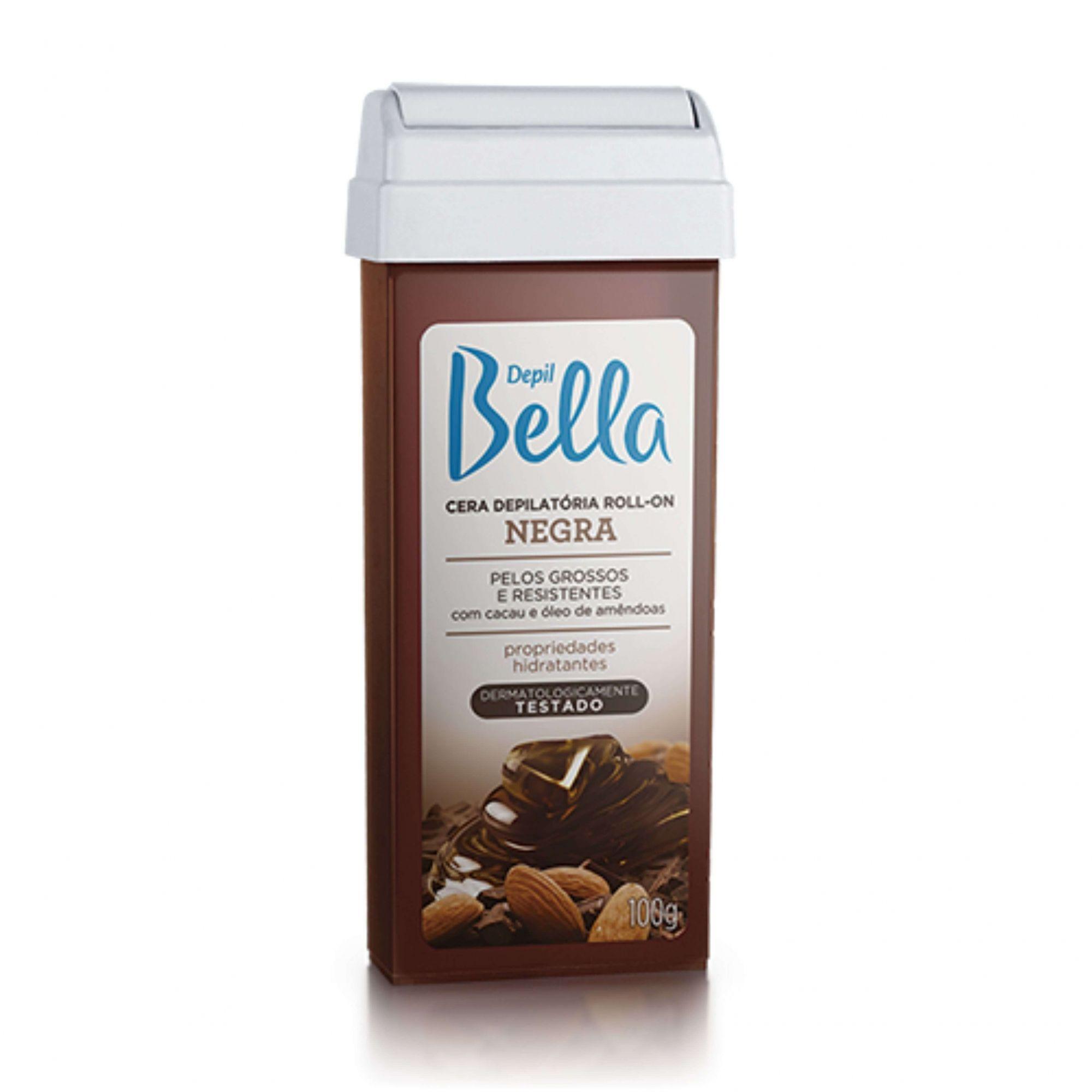 Refil Cera Depilatória Roll-on Negra Depil Bella 100g