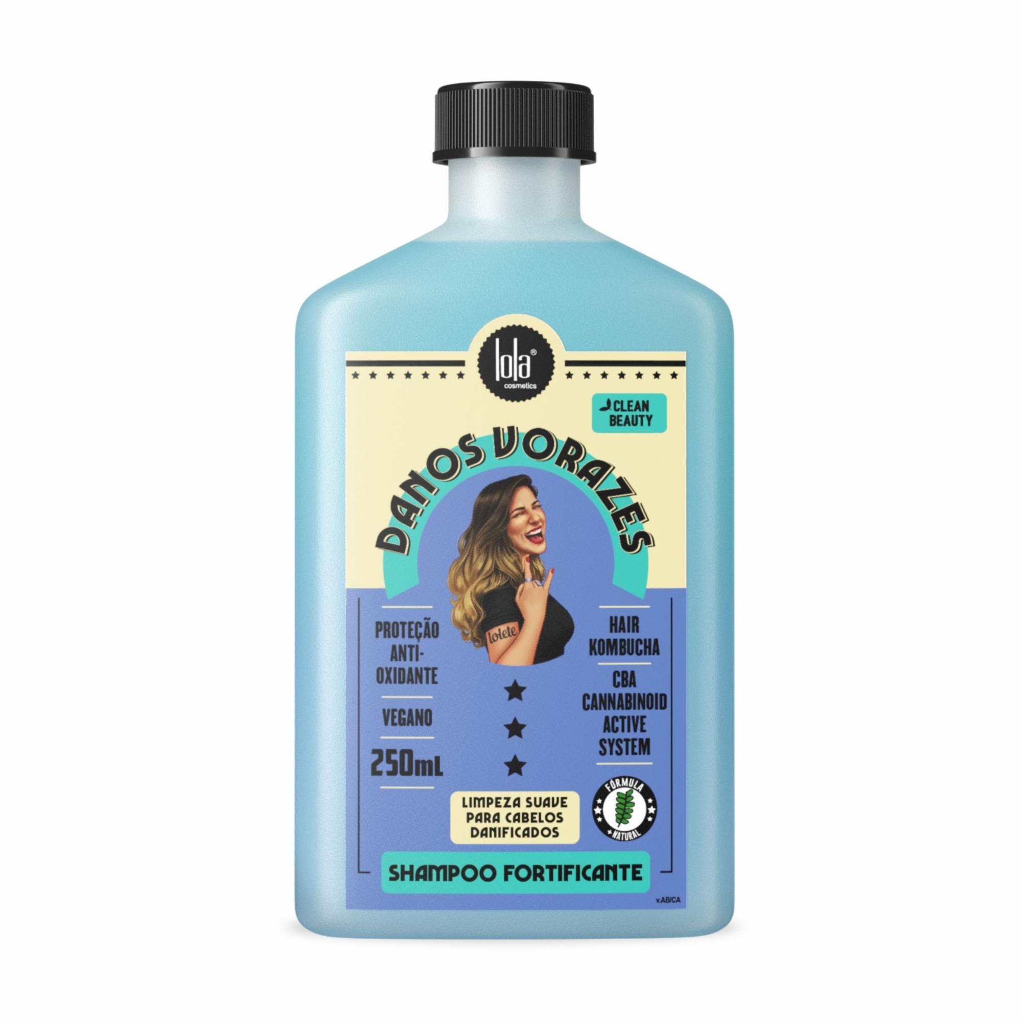 Shampoo Fortificante Danos Vorazes Lola Cosmetics 250ml