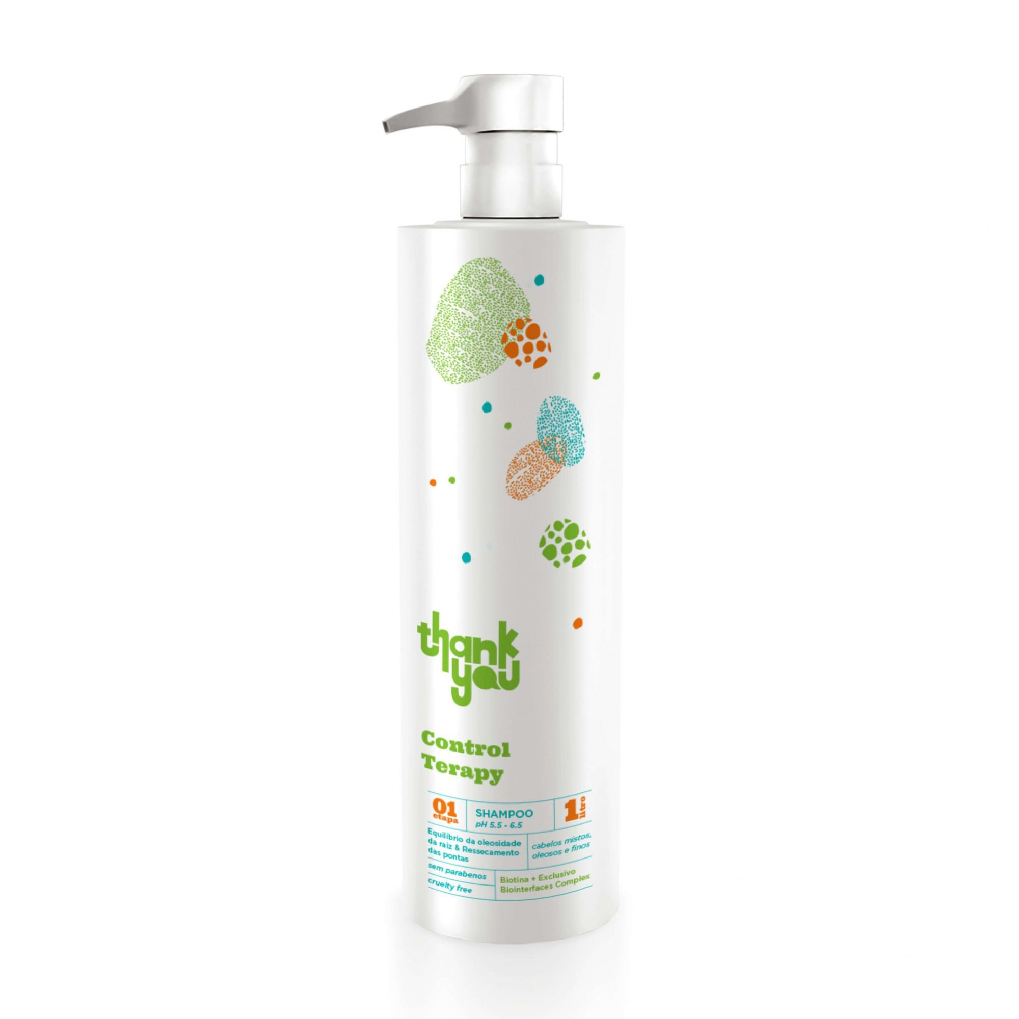 Shampoo Thank You Control Therapy 1 Litro  - Cabelos Oleosos