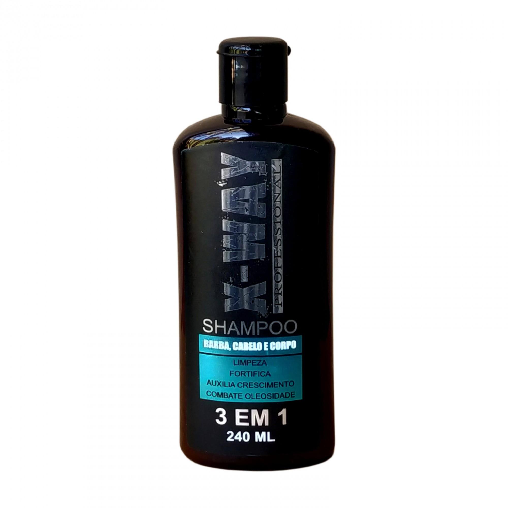 Shampoo X-Way 3x1 Masculino 240ml