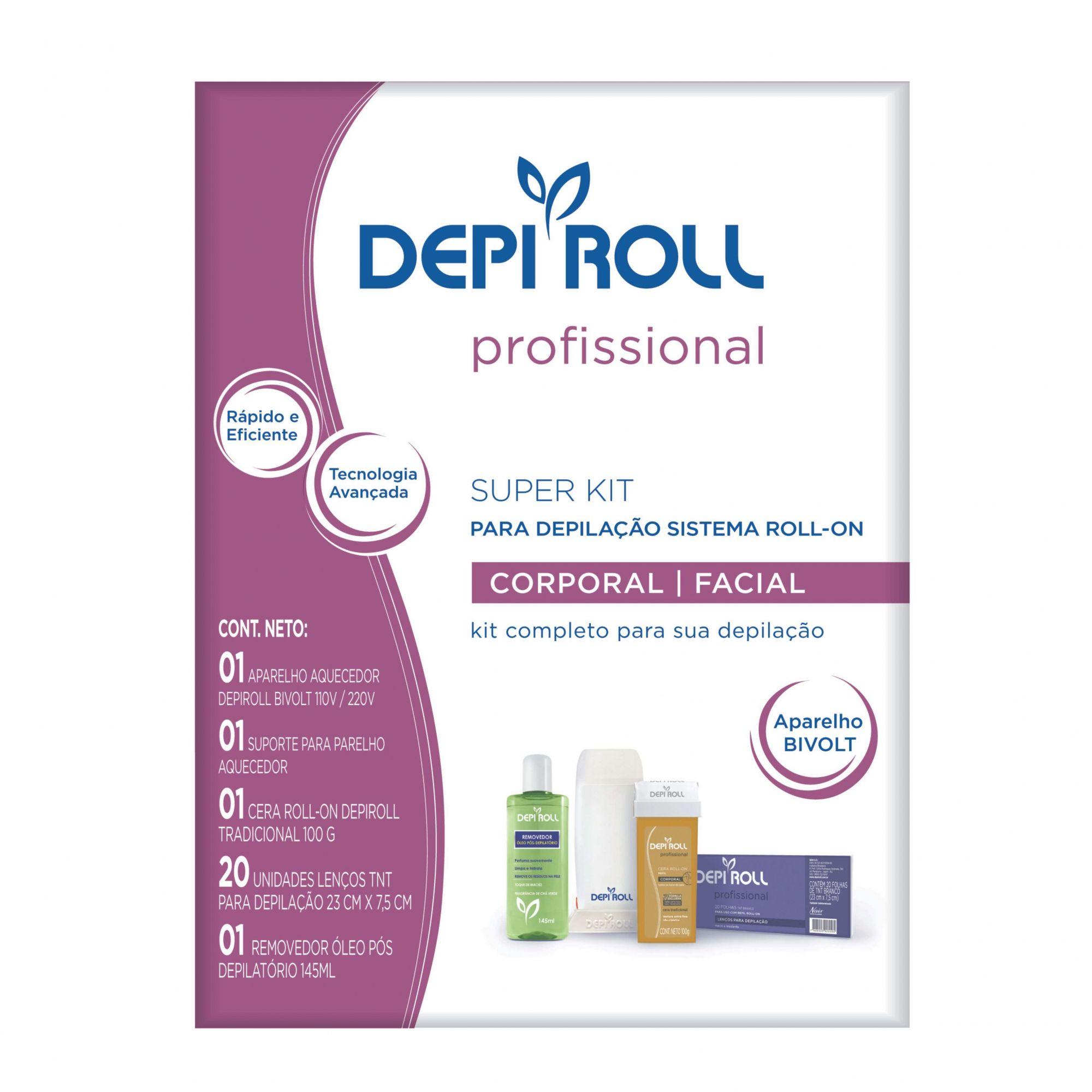 Super Kit para Depilação Sistema Roll- On Depi Roll