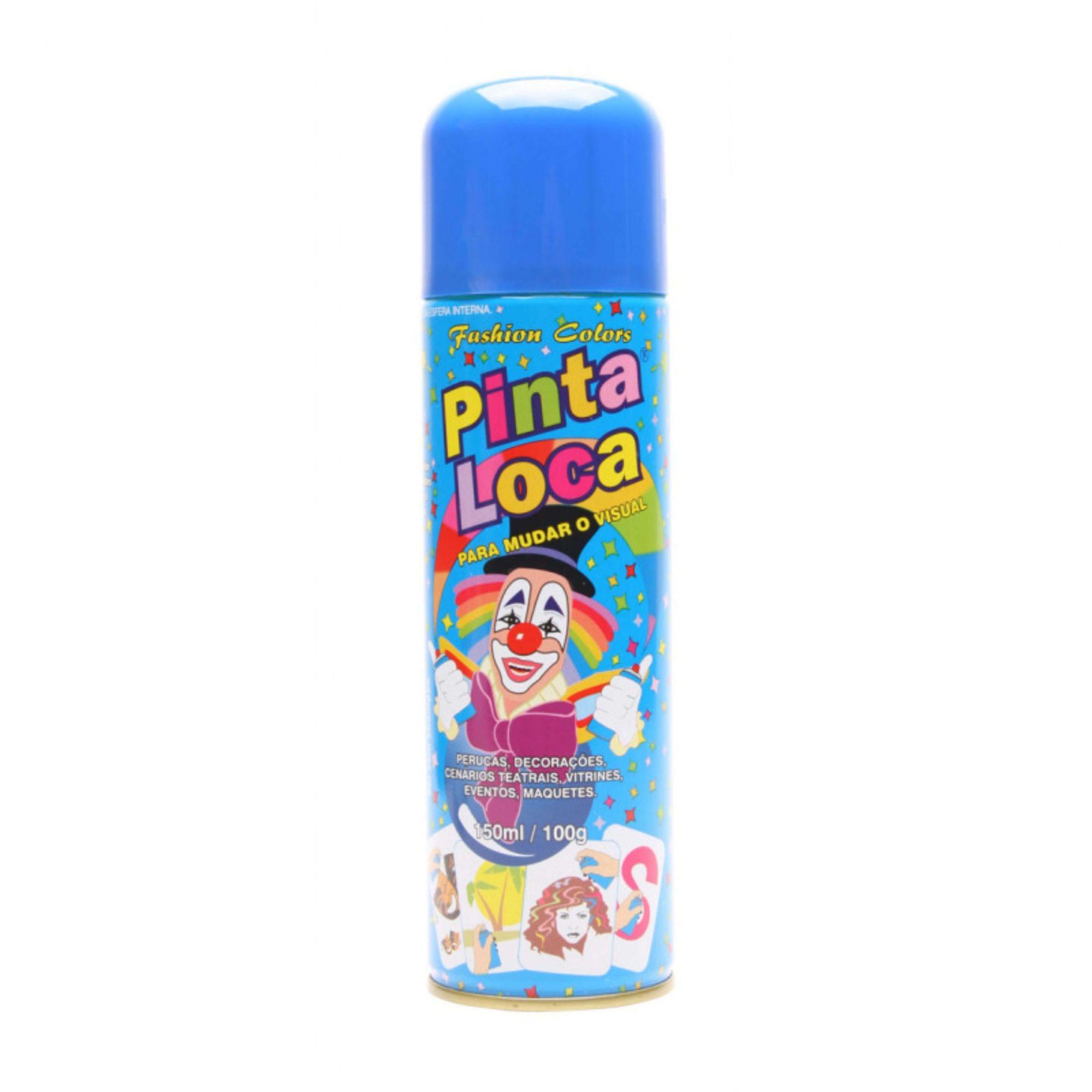 Tinta Spray para Cabelos Azul