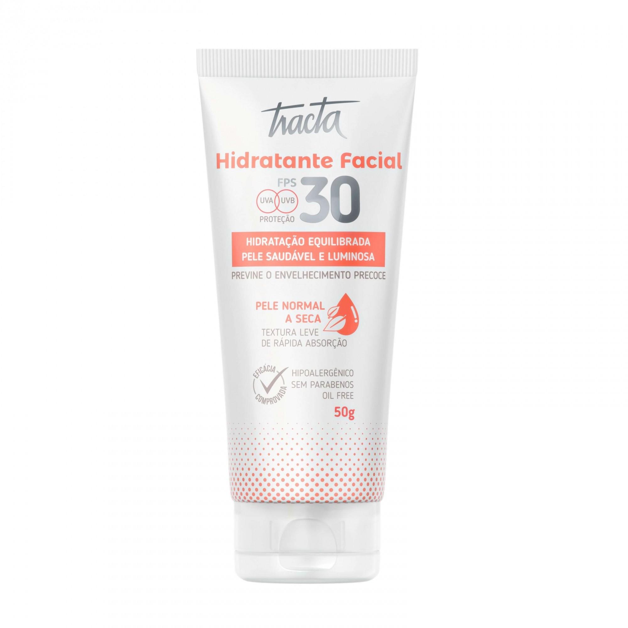 Hidratante Facial Pele Normal a Seca FPS30 Tracta 50g