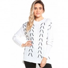 Blusa tricot tramado - Off White