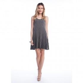 Vestido Tricot Plissado - Preto