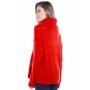 Blusa cashmere rendada e gola alta - Vermelho