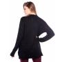 Blusa manga longa tranças - Preto
