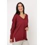 Blusa suéter Ralm tricot ampla decote V