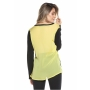 Blusa tricot com costas de tecido - Amarelo