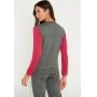 Conjunto de Tricot calça jogger faixa lateral e blusa manga longa tricolor - Pink