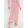 Conjunto de tricot calça pantalona e blusa manga longa - Rosa