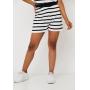 Conjunto de Tricot Ralm top e shorts listrado - Branco