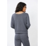 Conjunto Ralm Tricot  blusa manga longa e calça jogger - Jeans