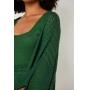 kimono de Tricot Ralm ponto rendado - Verde