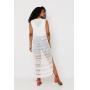 Vestido Saída de praia Ralm longa rendada - Branco