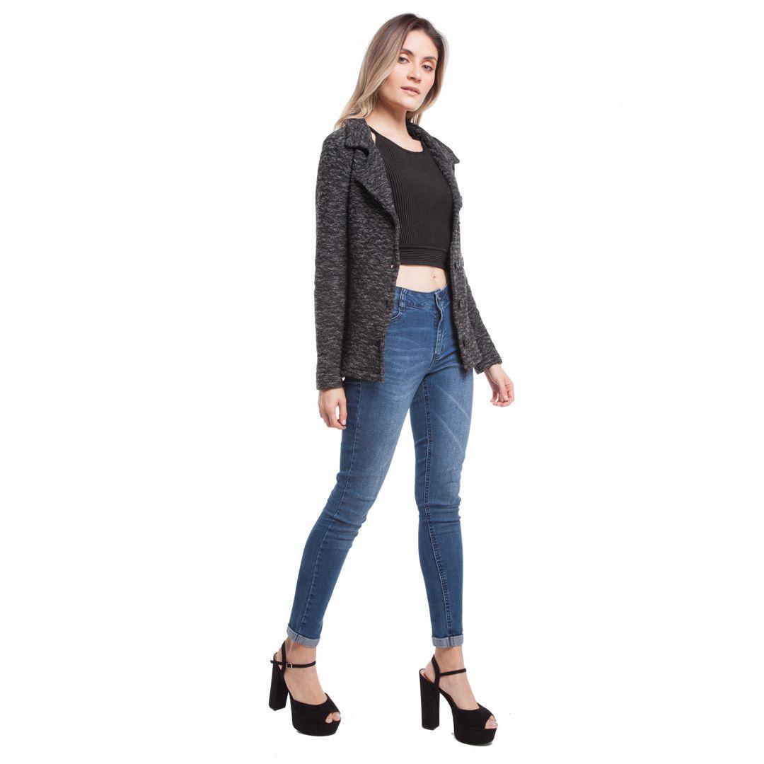 Blazer de tricot - Preto