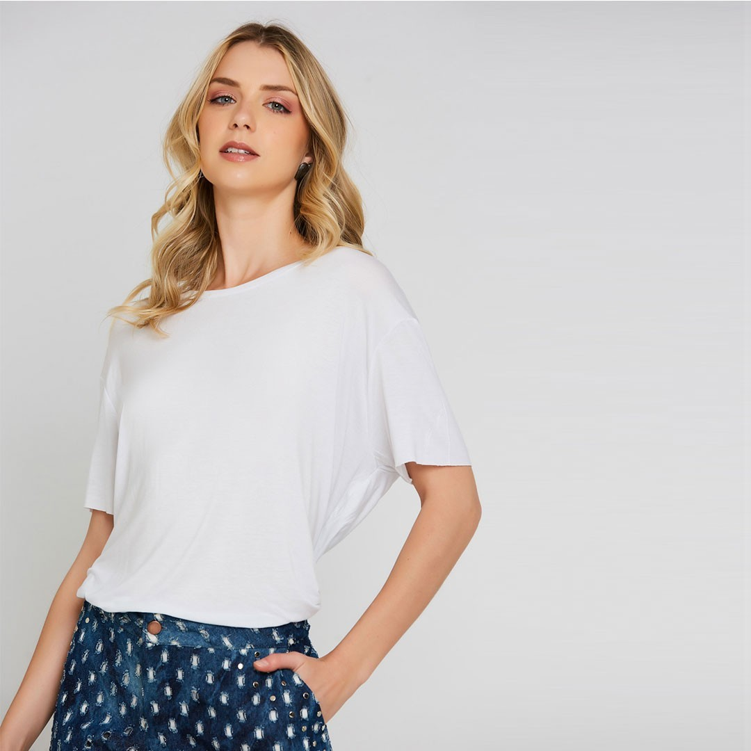 Blusa Ampla - Off White