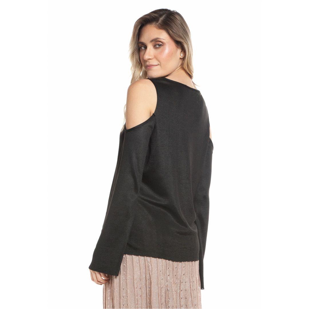 Blusa com ombros à mostra - Preto