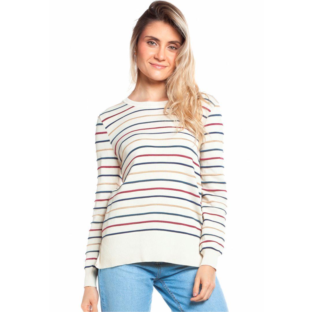 Blusa listras coloridas - Off White