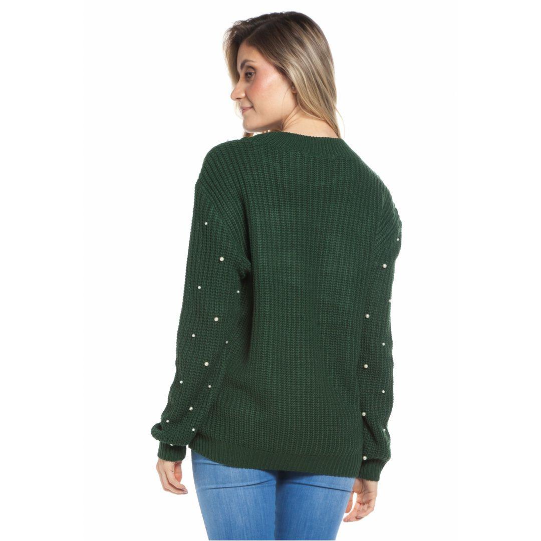 Blusa manga longa tranças - Verde