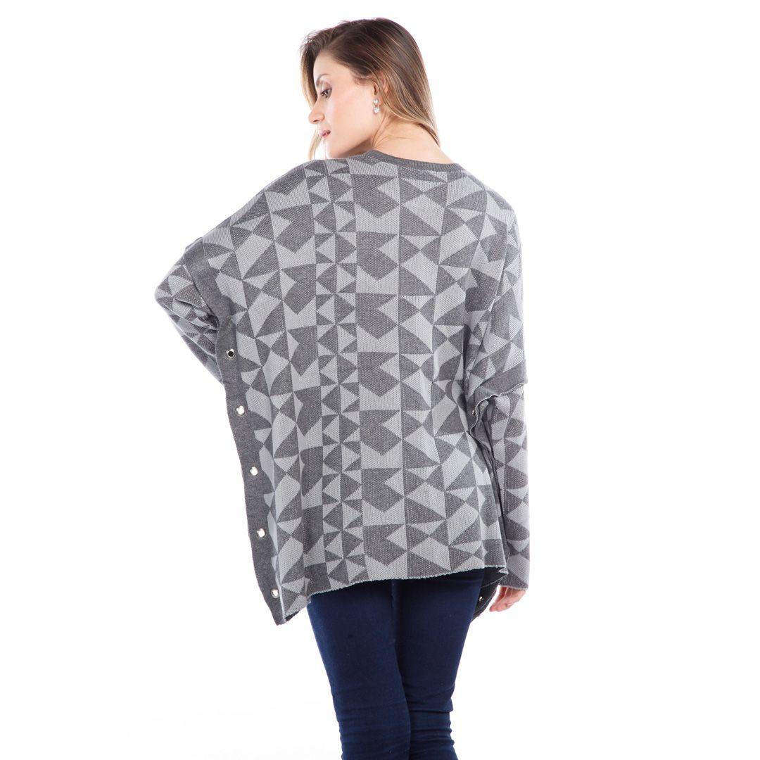 Blusa modelagem ampla - Cinza