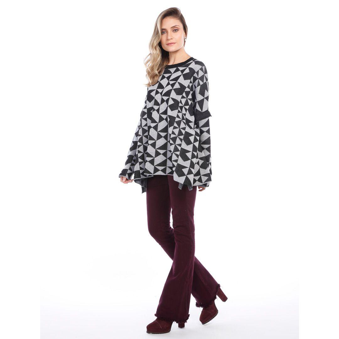 Blusa modelagem ampla - Preto
