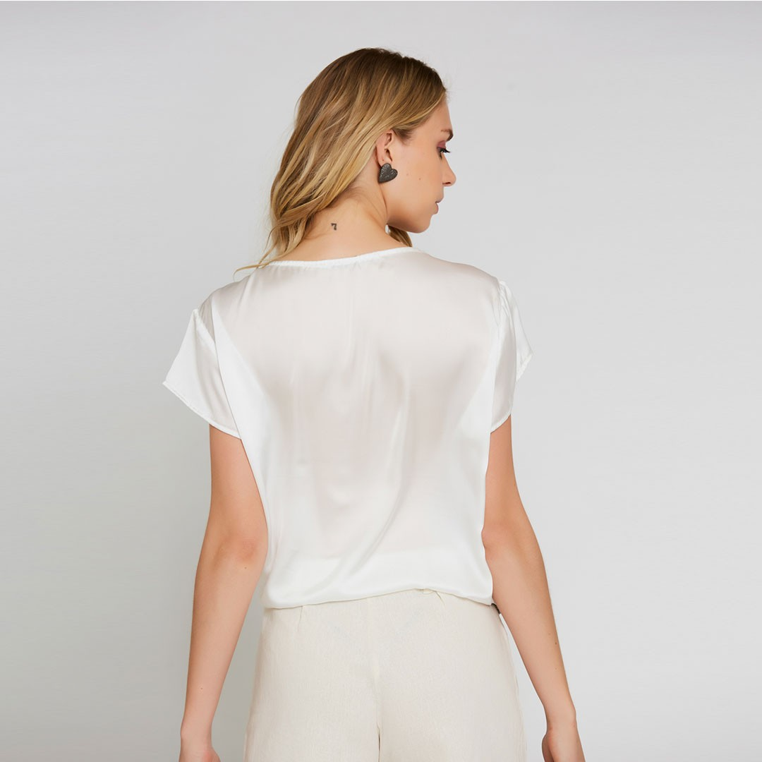 Blusa paetê - Off White