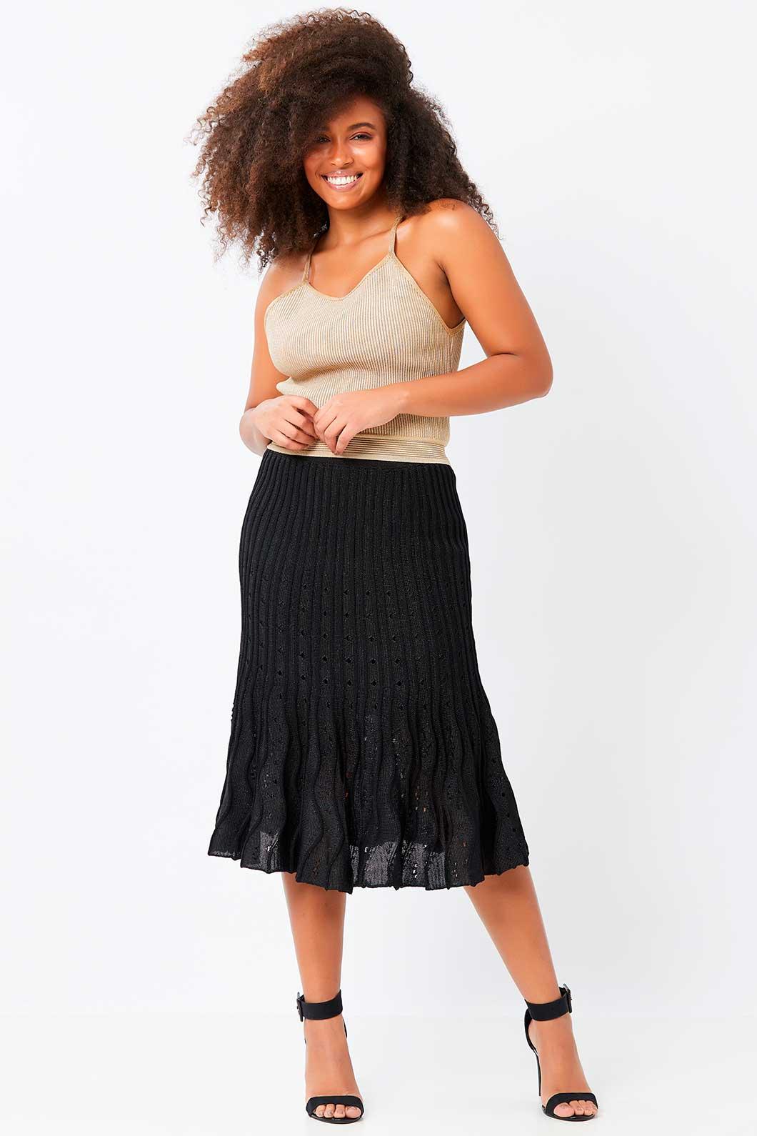 Blusa Ralm cropped alças de tricot