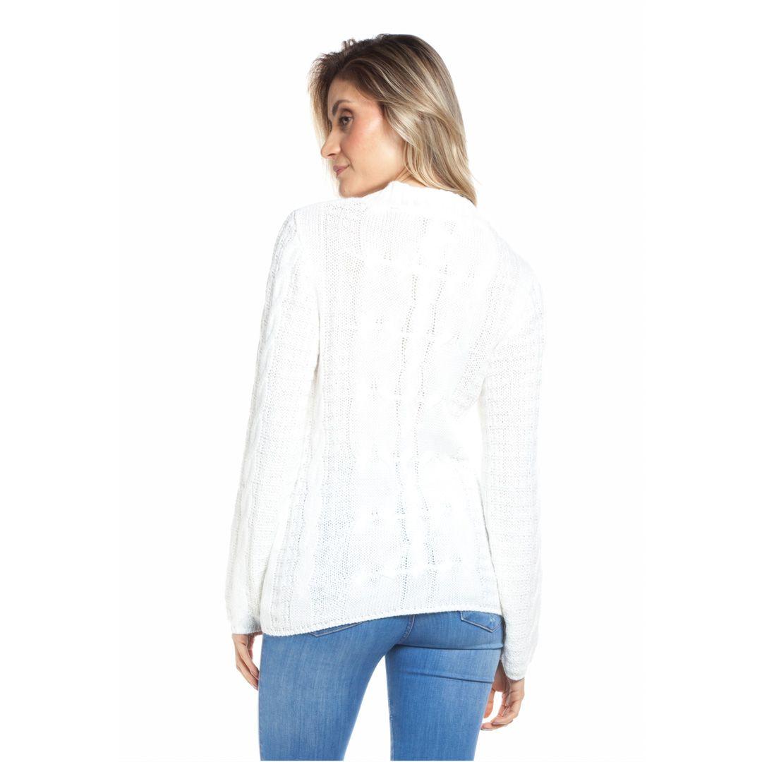 Blusa tranças com pérolas - Off white