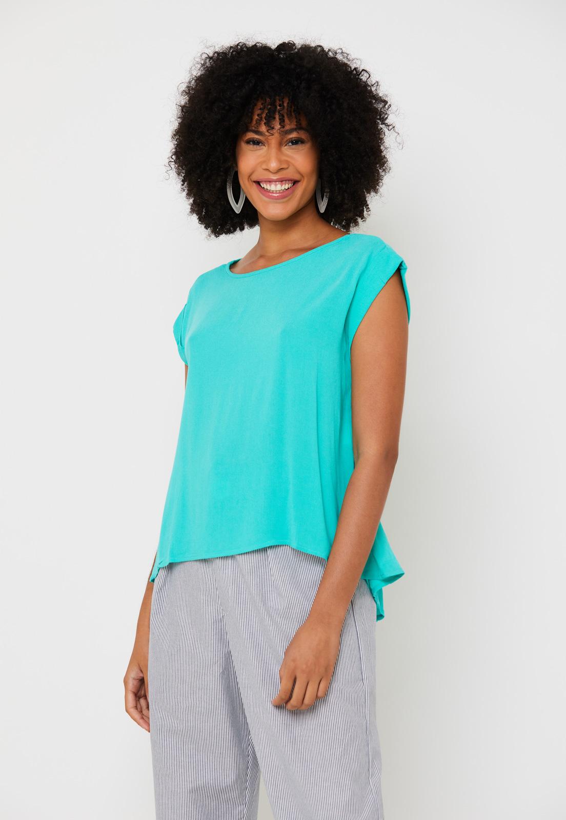 Blusa Viscose com Renda - Verde